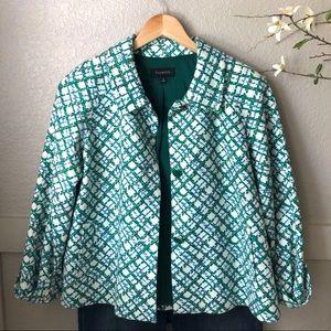 Talbots - Kelly Green and blue short coat.